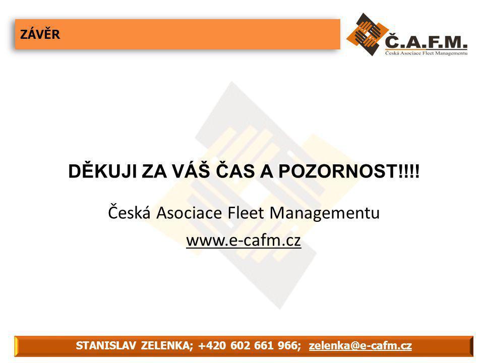 ZÁVĚR STANISLAV ZELENKA; +420 602 661 966; zelenka@e-cafm.cz DĚKUJI ZA VÁŠ ČAS A POZORNOST!!!.