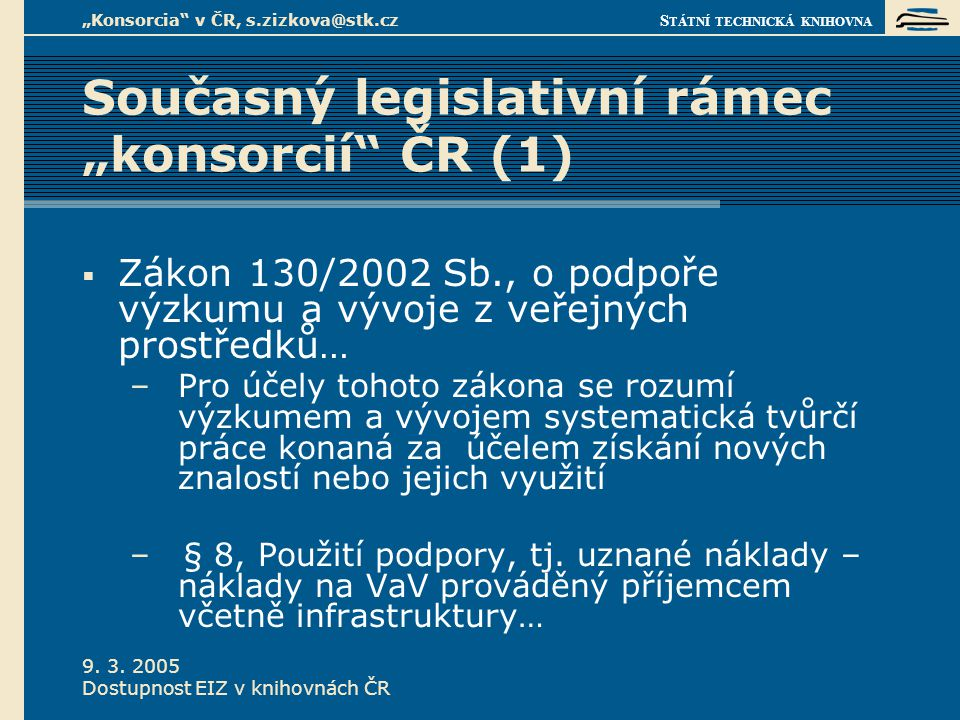S TÁTNÍ TECHNICKÁ KNIHOVNA 9.3.