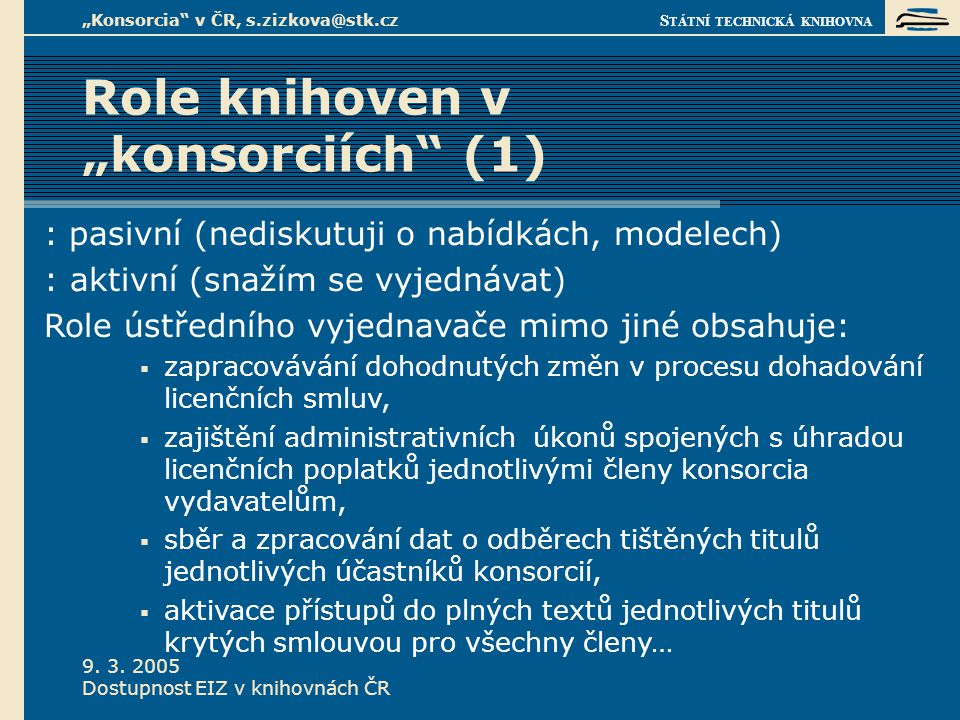 S TÁTNÍ TECHNICKÁ KNIHOVNA 9. 3.