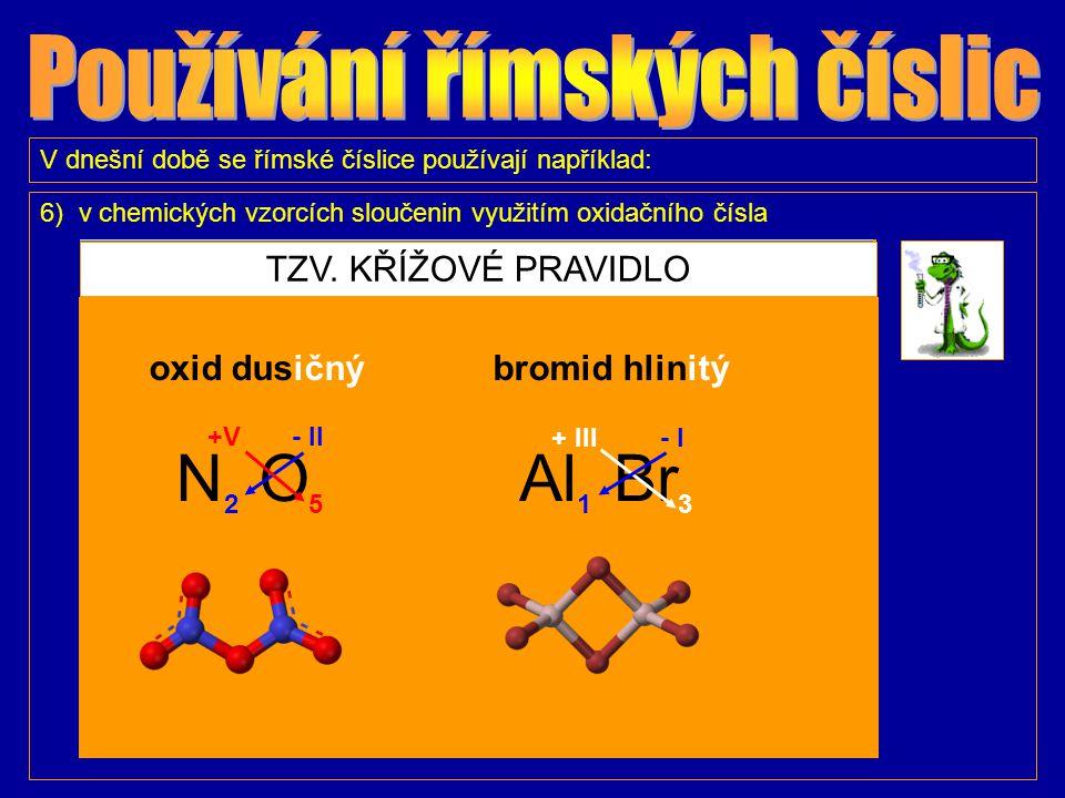 V dnešní době se římské číslice používají například: 7) na číselnících hodin Na Pražském orloji najdeme 2 x 12 římských číslic.