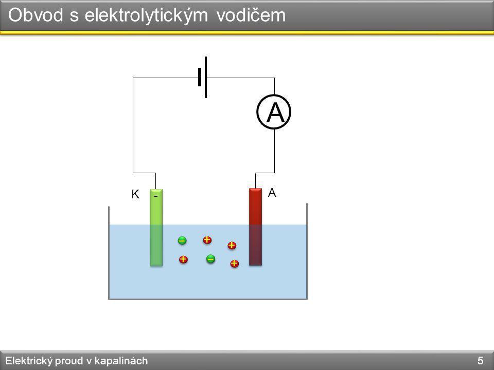 Elektrický proud v kapalinách 6 K (C - ) A (Cu + ) SO 4 2- Cu 2+ CuSO 4 Elektrolýza
