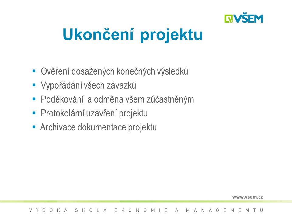 Ukončení a vyhodnocení projektu