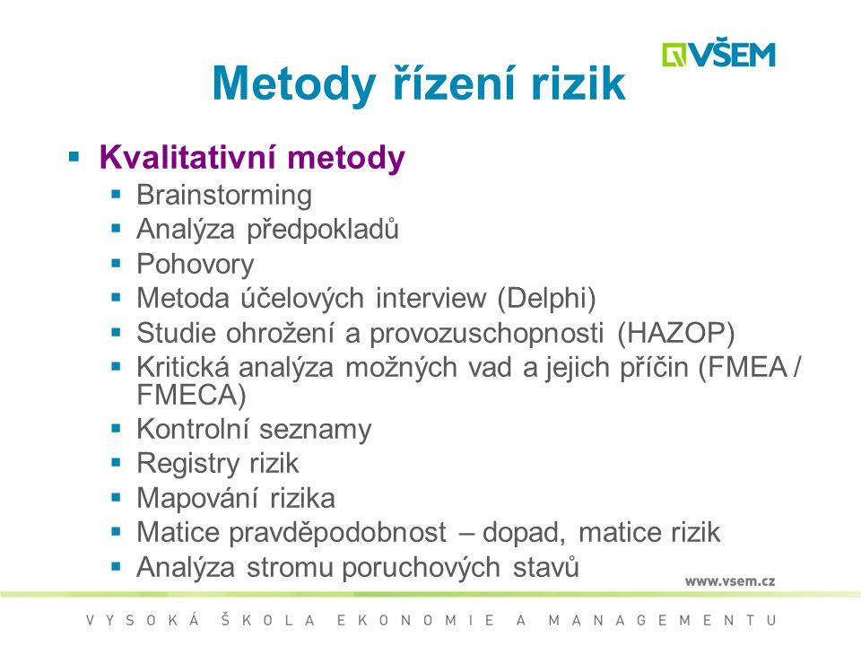 Analýza rizik – proces definování hrozeb, pravděpodobností jejich uskutečnění a dopadů na aktiva, tedy stanovení rizik a jejich závažnosti.  Kvalitat