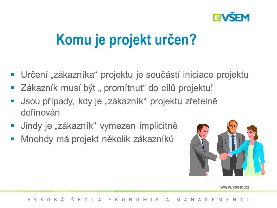 Zaměření na zákazníka Řízení kvality projektu ISO 9001 organizace jsou závislé na svých zákaznících a proto mají rozumět současným a budoucím potřebám