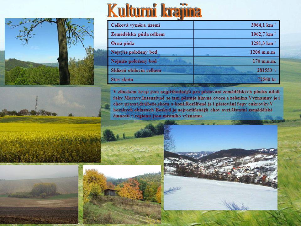 Celková výměra území 3964,1 km 2 Zemědělská půda celkem 1962,7 km 2 Orná půda 1281,3 km 2 Nejvýše položený bod 1206 m.n.m Nejníže položený bod 170 m.n.m.