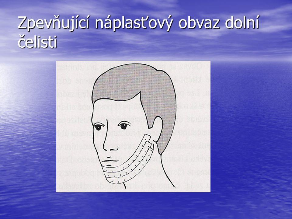 Zpevňující náplasťový obvaz dolní čelisti