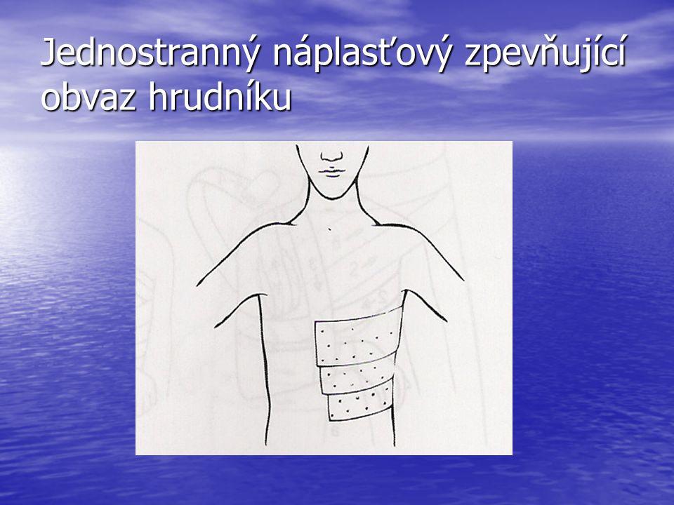 Jednostranný náplasťový zpevňující obvaz hrudníku