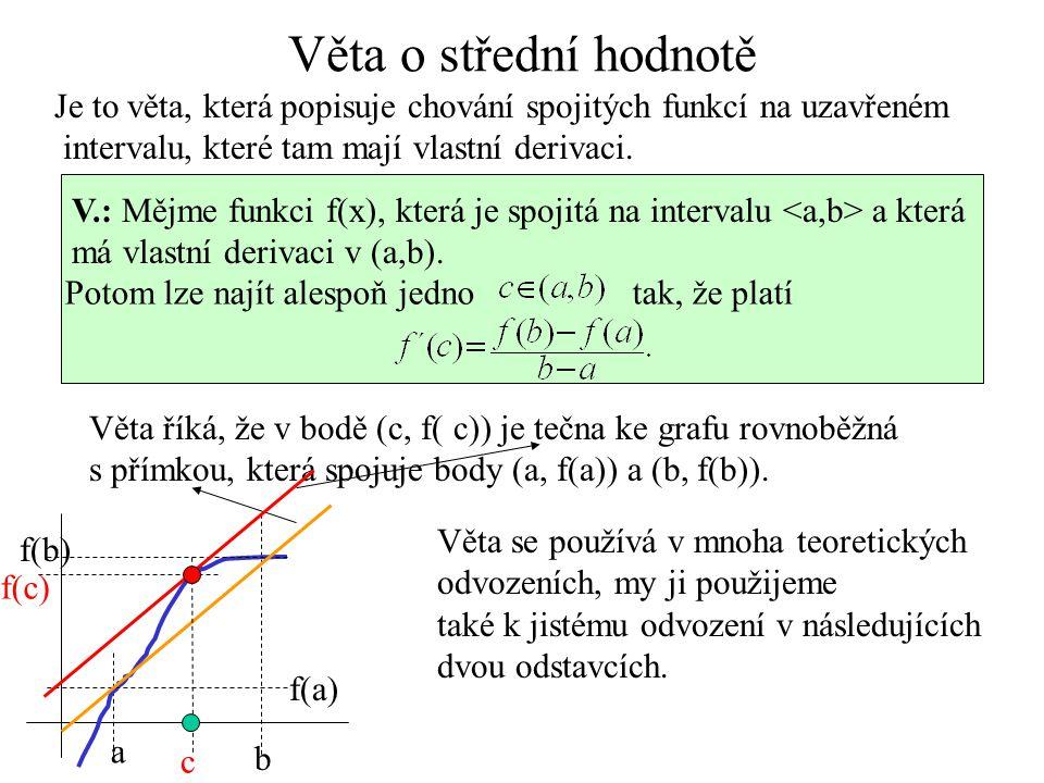 V.: Má-li funkce v některém nekonečnu obecnou asymptotu y=ax+b, potom: Př.: Najděme obecnou asymptotu funkce l´Hospital pr.