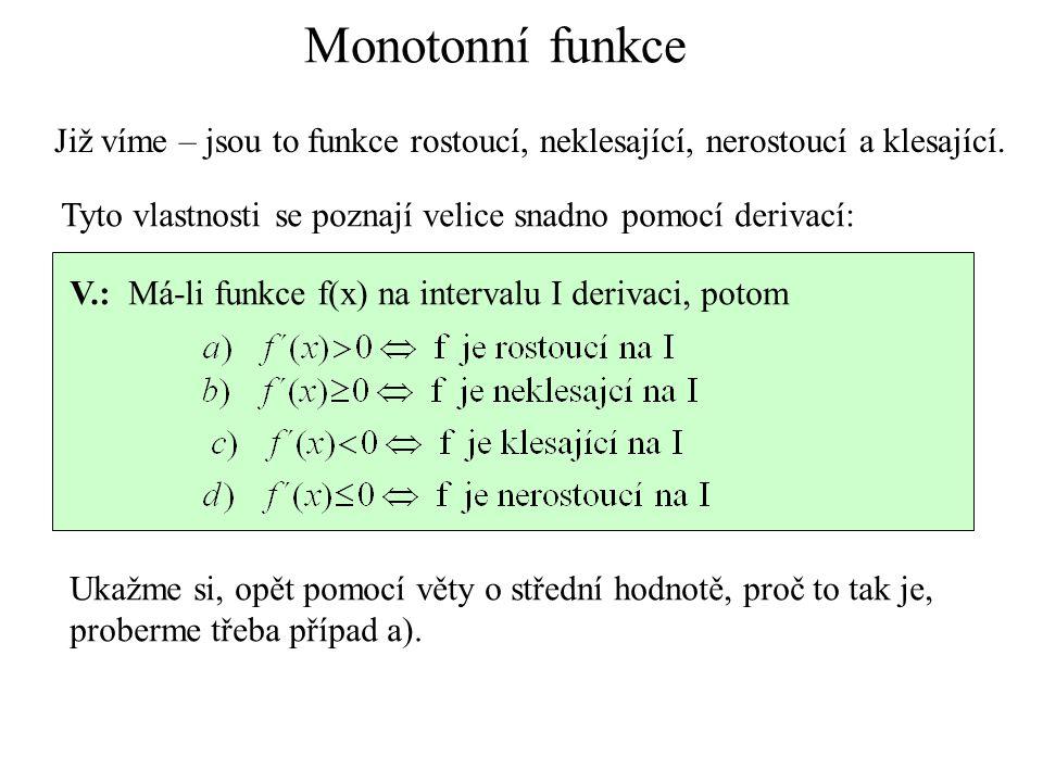 2.Najděme lokální extrémy funkce D(f)=R.