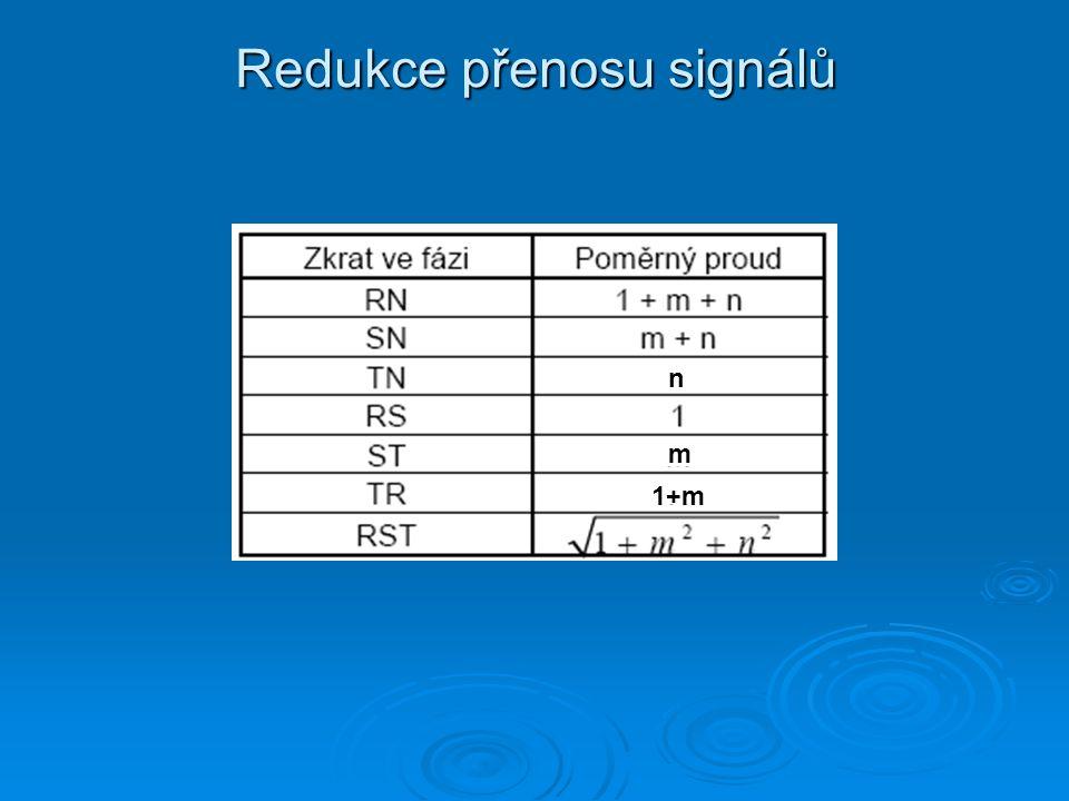 Redukce přenosu signálů n m 1+m