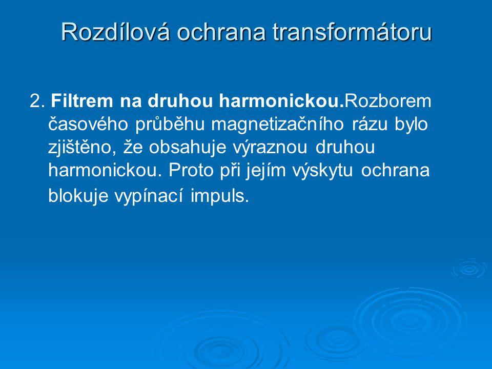 Rozdílová ochrana transformátoru 2.