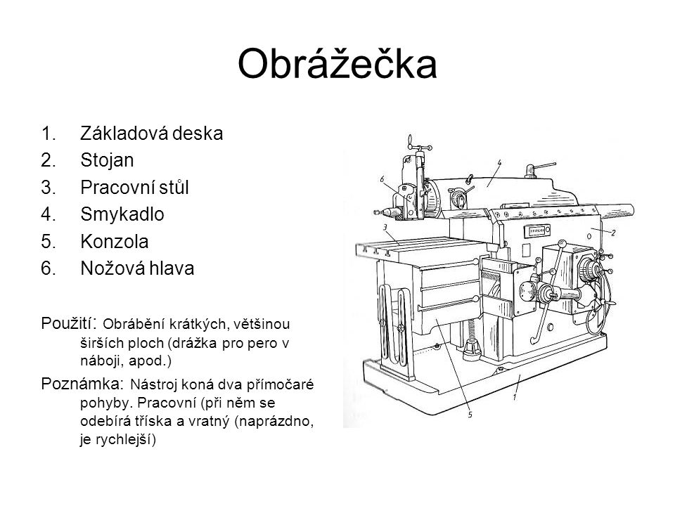 Bodová svářečka 1.Skříň 2.Elektrická část (transformátor) 3.Pohyblivé rameno 4.Pevné rameno 5.Chladící voda 6.Ovládací páka