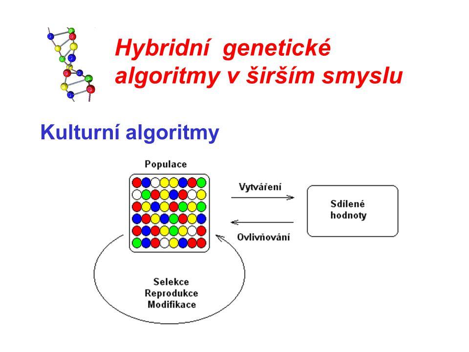 Hybridní genetické algoritmy v širším smyslu Kulturní algoritmy
