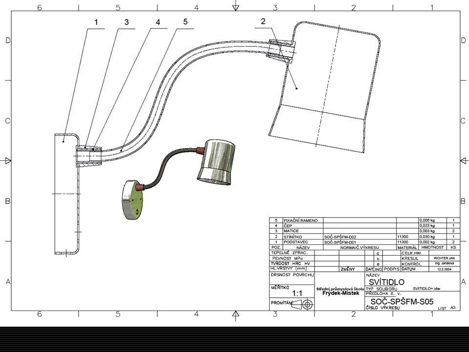 NÁVRH DISIGNU A CELKOVÉ KONSTRUKCE SVÍTIDLA  Řešíme celkovou konstrukci a design.