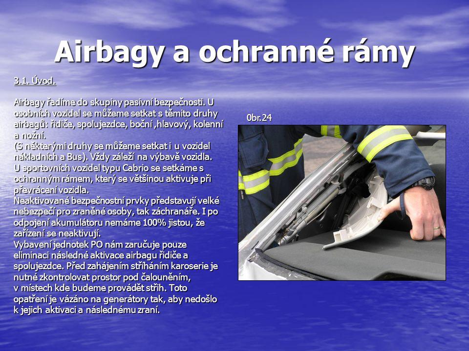 Airbagy a ochranné rámy 3.1.Úvod. Airbagy řadíme do skupiny pasivní bezpečnosti.