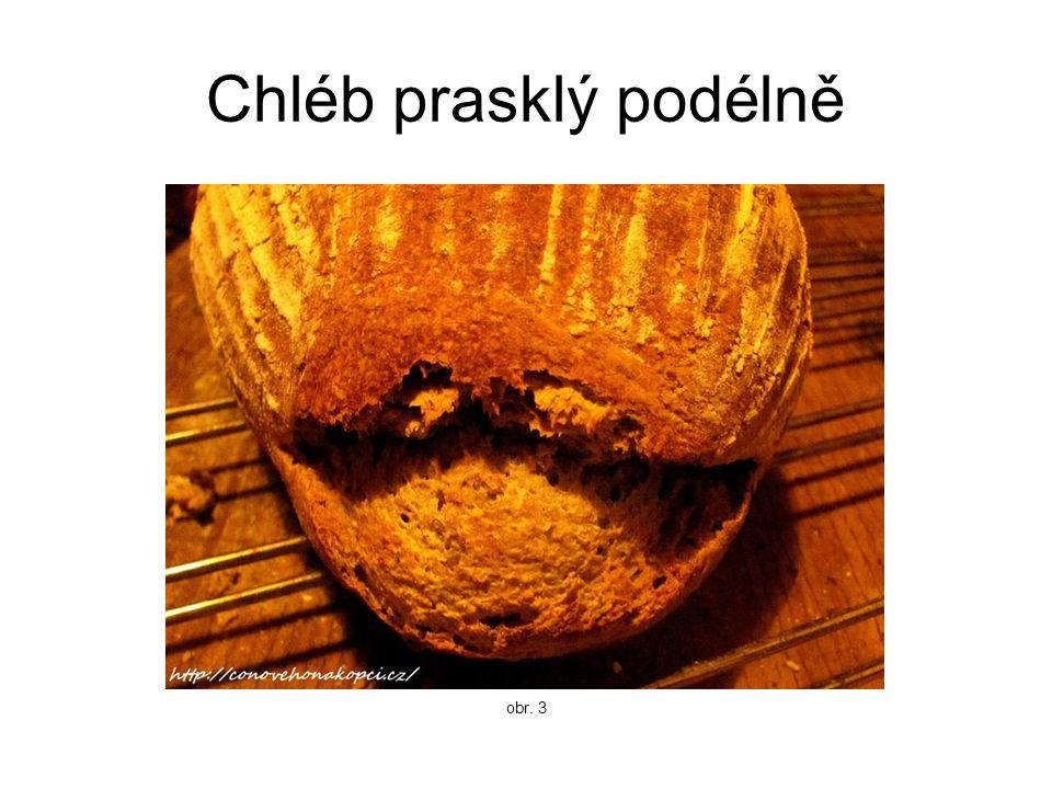 Chléb prasklý podélně obr. 3