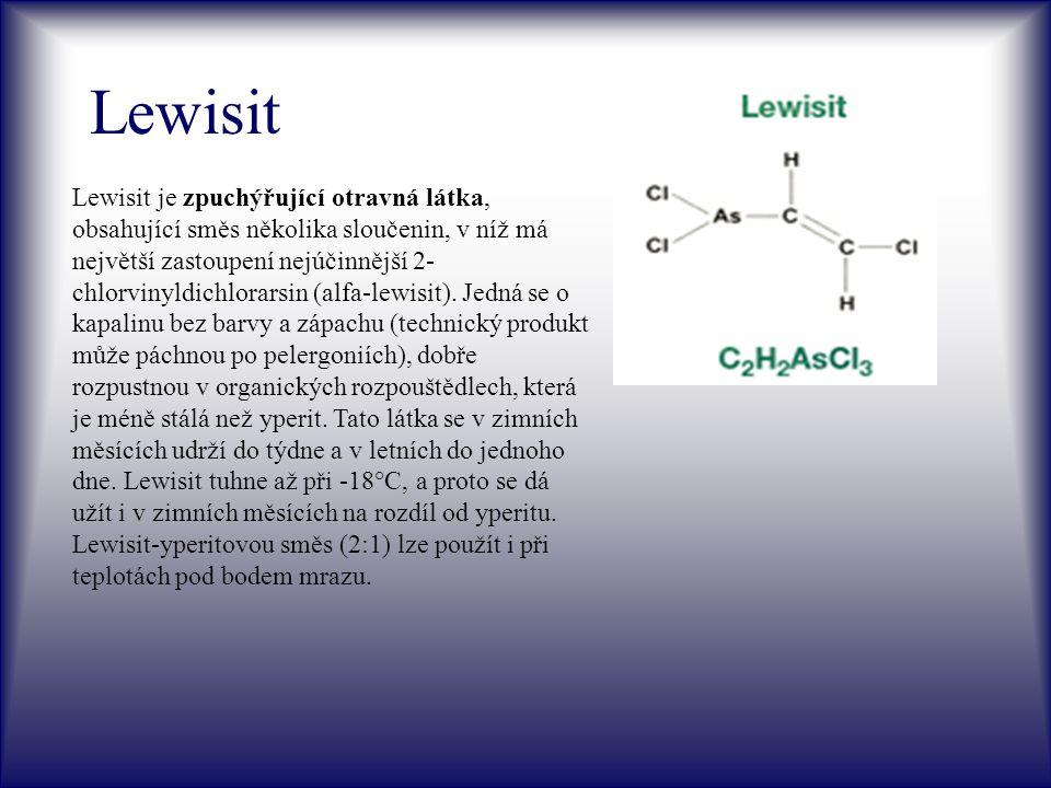 Adamsit Adamsit (DM), pojmenovaný podle chemika Adamse, který poprvé navrhl tuto látku pro bojové použití.