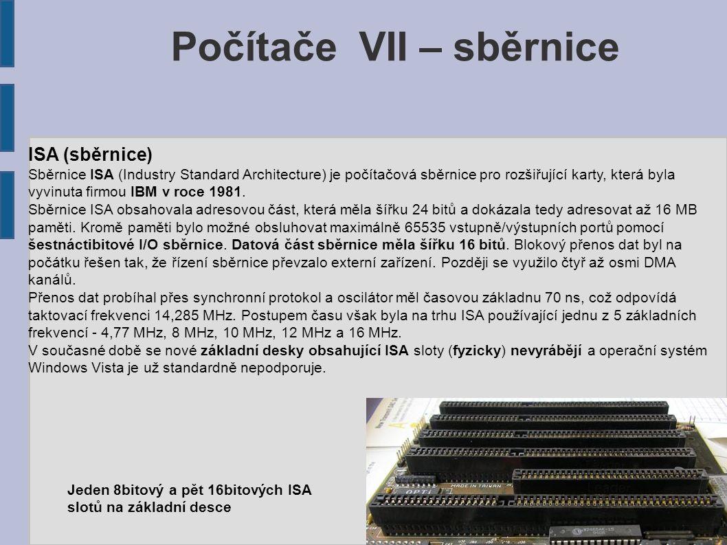 PCI (sběrnice) PCI (z anglického Peripheral Component Interconnect) nebo PCI Standard (v praxi se však téměř vždy zkracuje na PCI) je počítačová sběrnice pro připojení periferií k základní desce, která není omezená na platformu osobních počítačů PC.