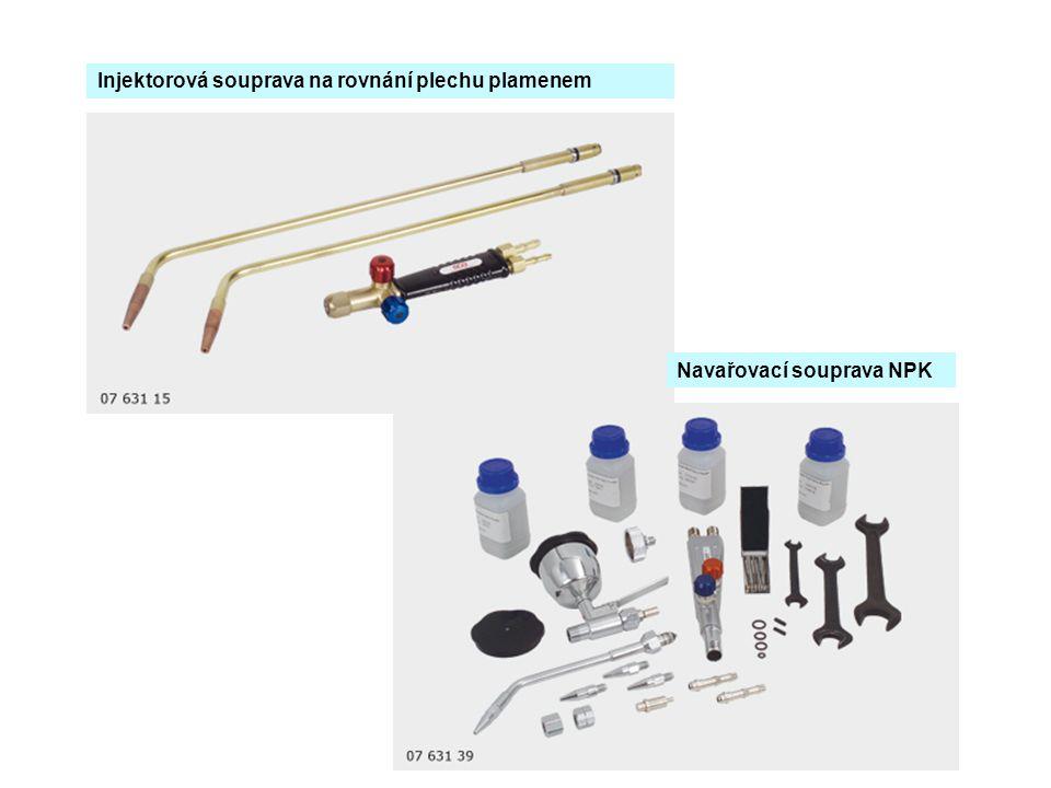 Injektorová souprava na rovnání plechu plamenem Navařovací souprava NPK