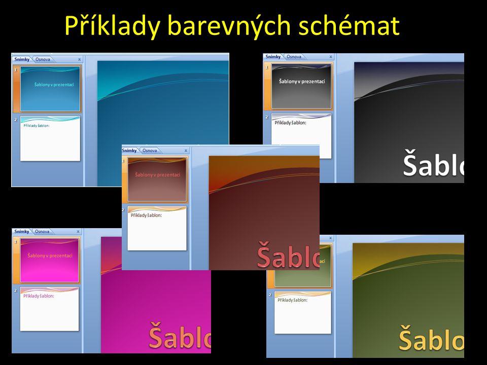 Příklady barevných schémat