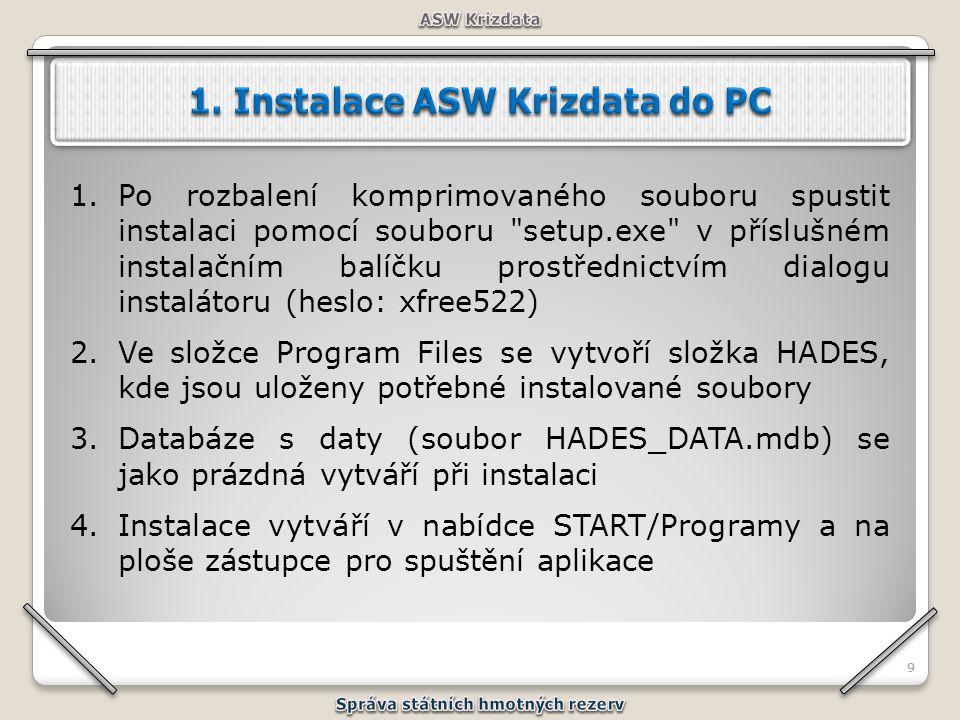 99 1.Po rozbalení komprimovaného souboru spustit instalaci pomocí souboru