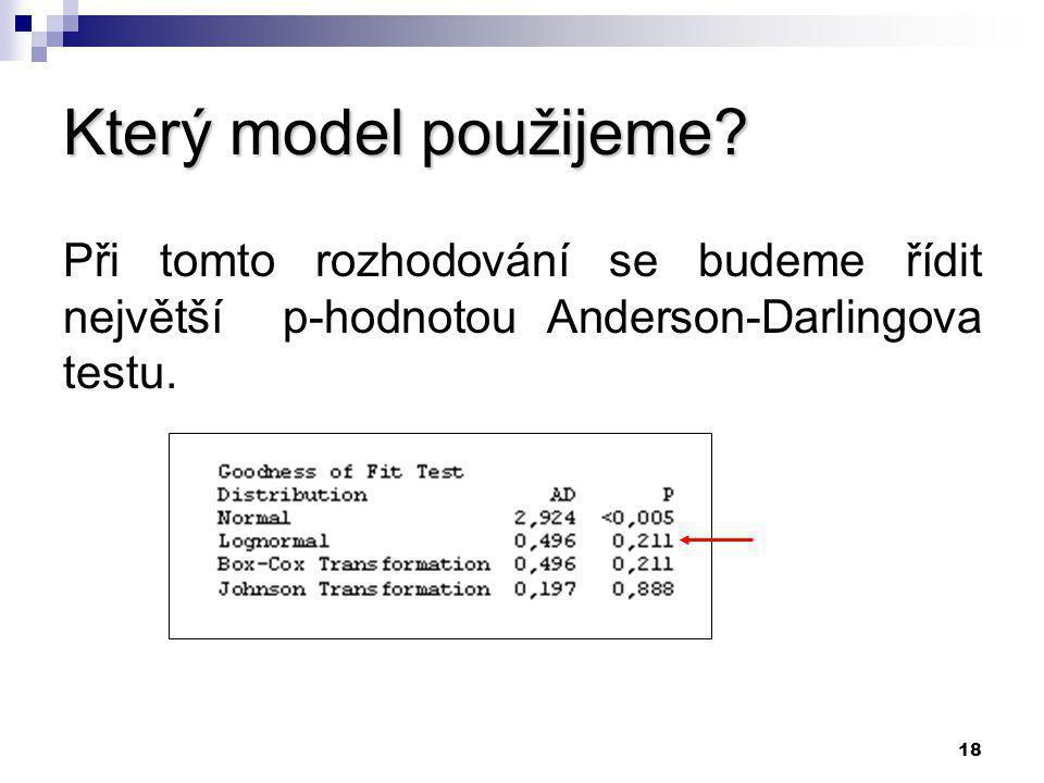 17 Identifikace distribuční funkce pro výběrové průměry