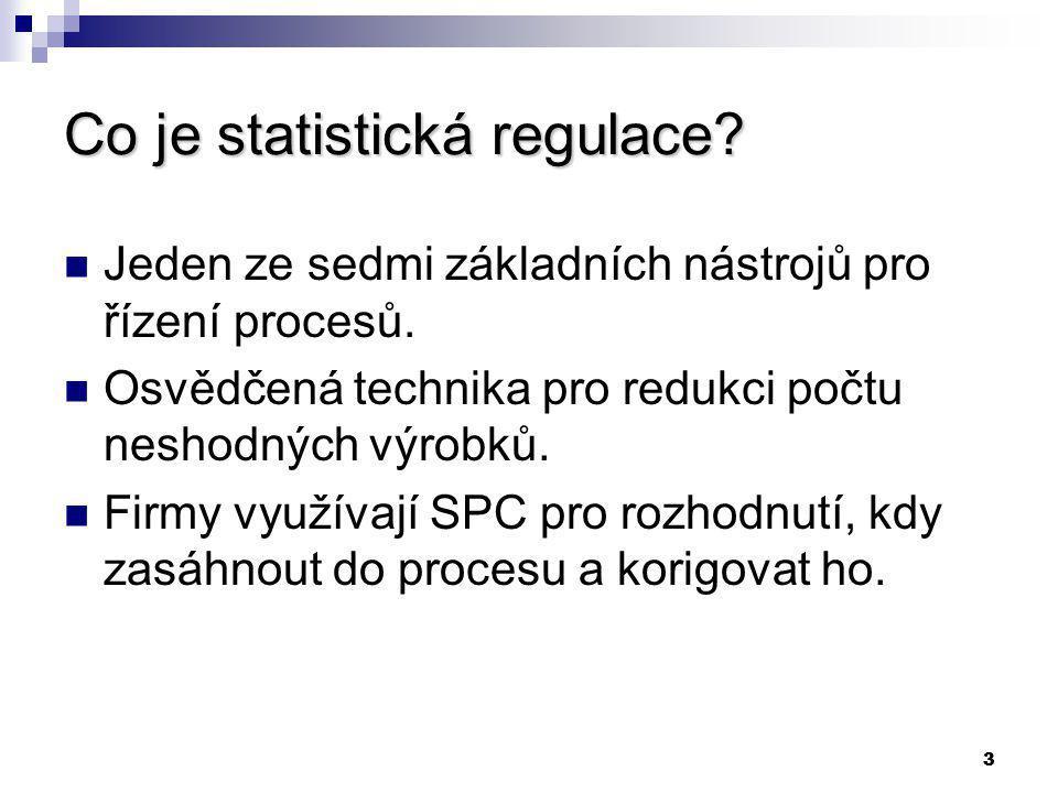 STATISTICKÁ REGULACE POMOCÍ VÝBĚROVÝCH PRŮMĚRŮ Z NENORMÁLNĚ ROZDĚLENÝCH DAT Ing.