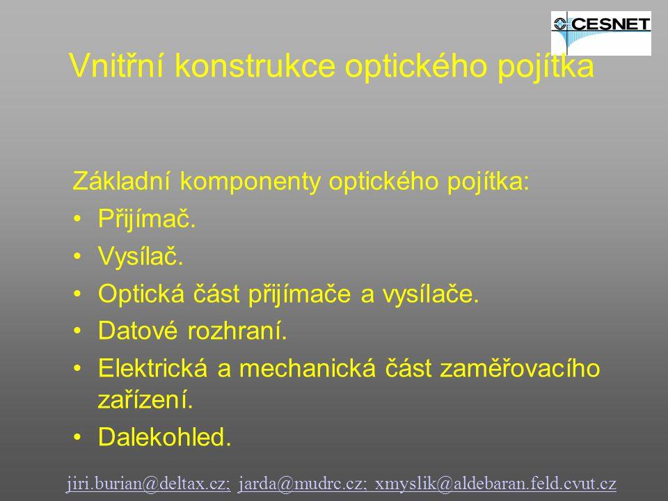 jiri.burian@deltax.cz;jiri.burian@deltax.cz; jarda@mudrc.cz; xmyslik@aldebaran.feld.cvut.czjarda@mudrc.cz; xmyslik@aldebaran.feld.cvut.cz Základní komponenty optického pojítka: Přijímač.