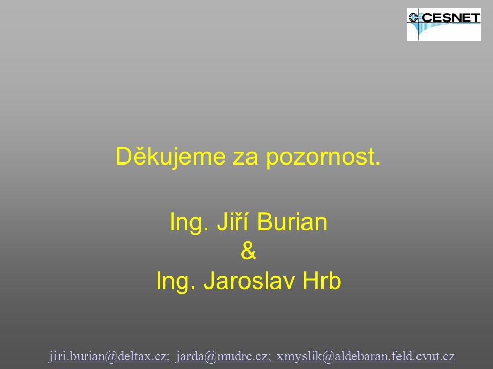 jiri.burian@deltax.cz;jiri.burian@deltax.cz; jarda@mudrc.cz; xmyslik@aldebaran.feld.cvut.czjarda@mudrc.cz; xmyslik@aldebaran.feld.cvut.cz Děkujeme za pozornost.
