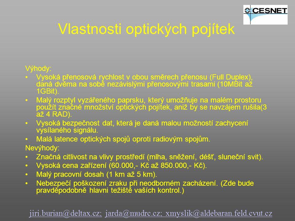 jiri.burian@deltax.cz;jiri.burian@deltax.cz; jarda@mudrc.cz; xmyslik@aldebaran.feld.cvut.czjarda@mudrc.cz; xmyslik@aldebaran.feld.cvut.cz Ukázka instalace optických pojítek