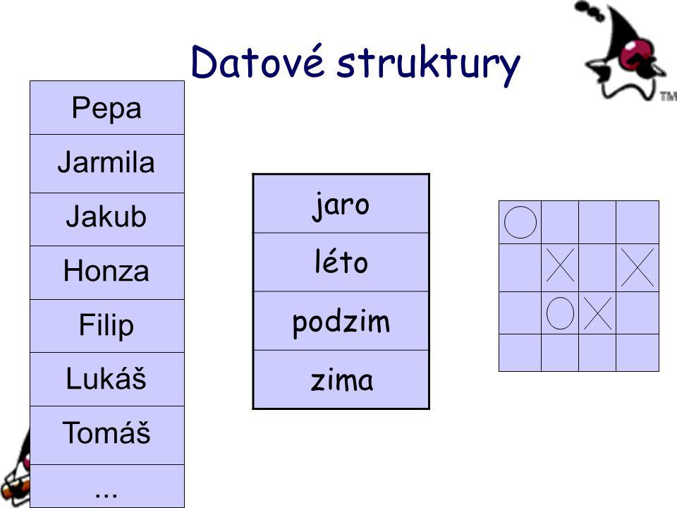 Pepa Jarmila Jakub Honza Filip Lukáš Tomáš... Datové struktury jaro léto podzim zima