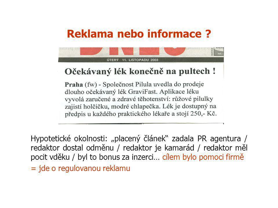 Reklama nebo informace .