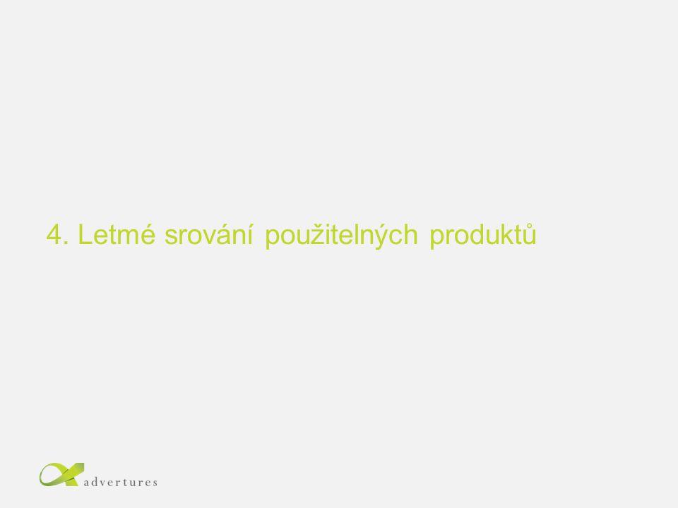 4. Letmé srování použitelných produktů