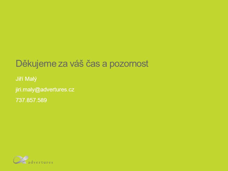 Děkujeme za váš čas a pozornost Jiří Malý jiri.maly@advertures.cz 737.857.589