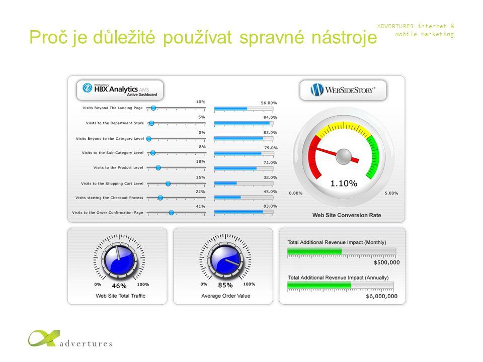 ADVERTURES internet & mobile marketing Proč je důležité používat spravné nástroje