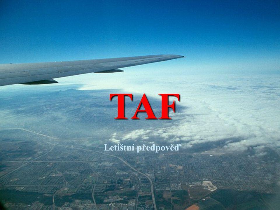 TAF Letištní předpověď
