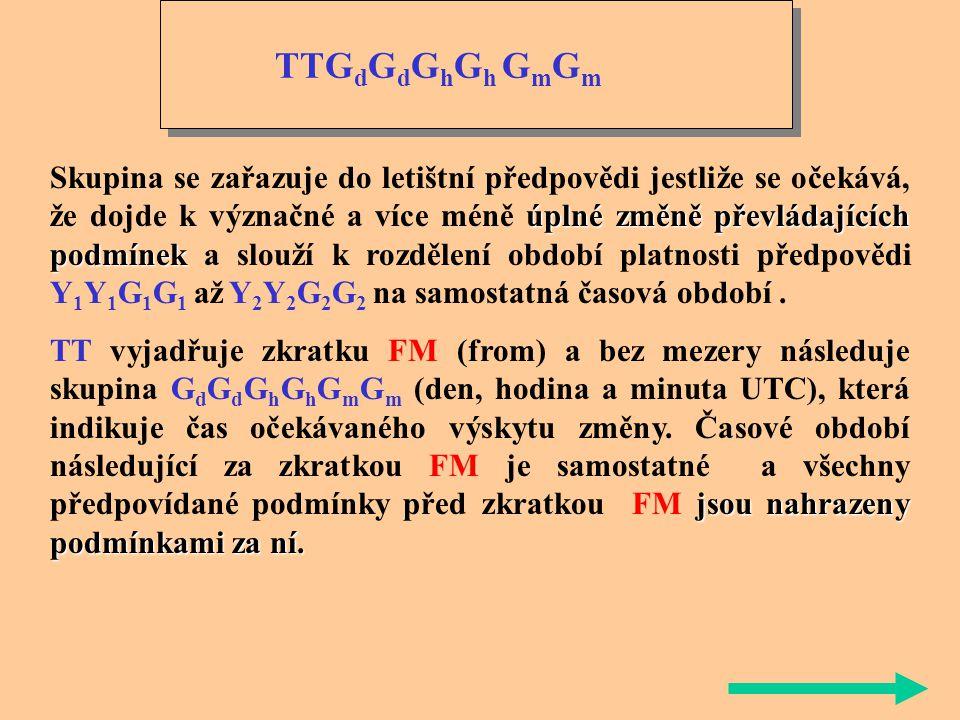 TEMPO přechodnýchnepravidelných dosáhnou nebo překročí Indikátor změny TEMPO se používá k popisu očekávaných četných nebo nečetných přechodných, nepra