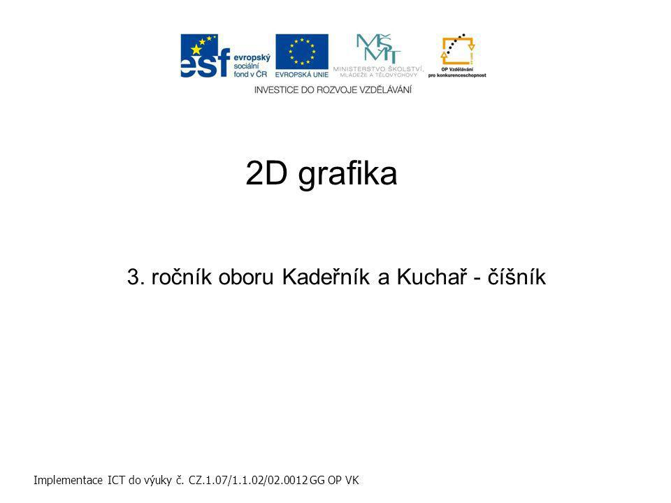 2D grafika Implementace ICT do výuky č. CZ.1.07/1.1.02/02.0012 GG OP VK 3.