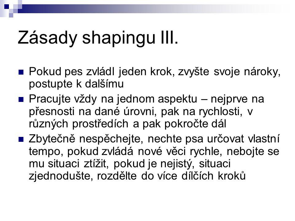 Zásady shapingu III.