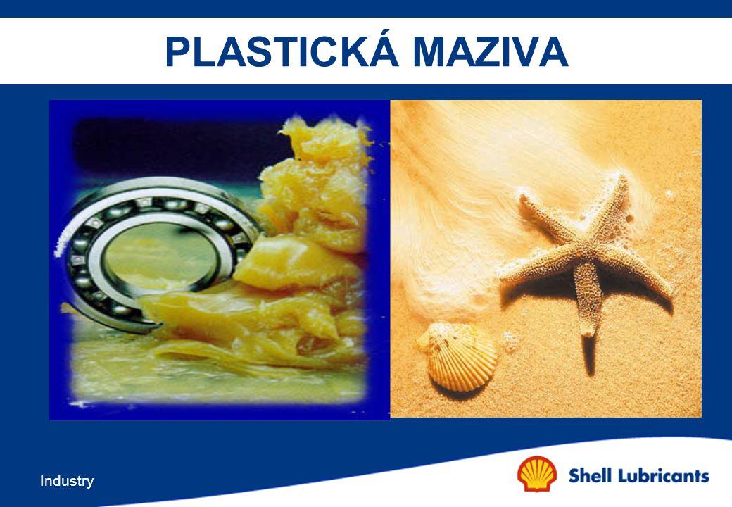 Industry Přísady v plastických mazivech Detergenty -Zajíšťují stabilní formu směsi základového oleje a zpevňovadla tzn.