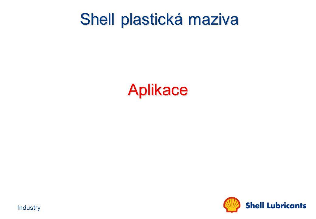 Industry Shell plastická maziva Shell plastická maziva Aplikace