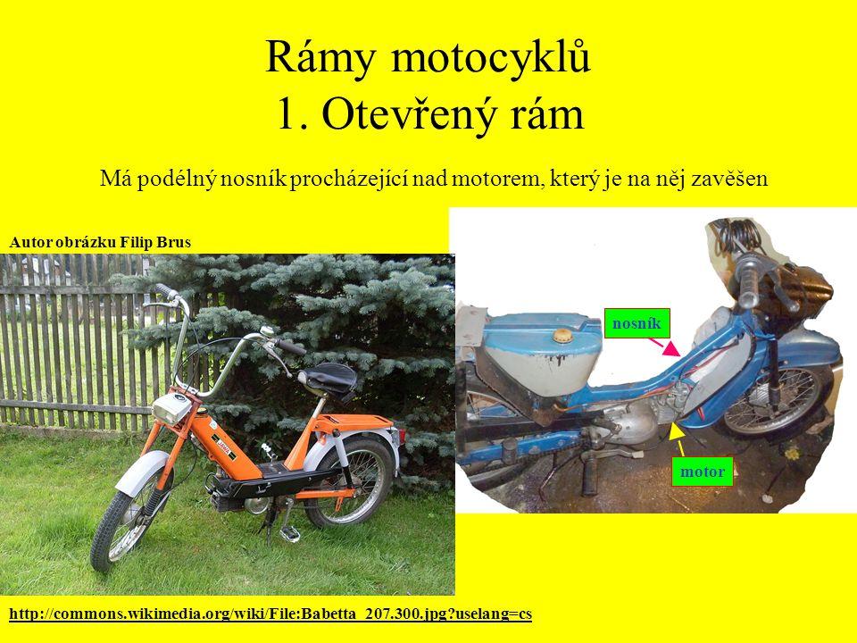 Rámy motocyklů 1.