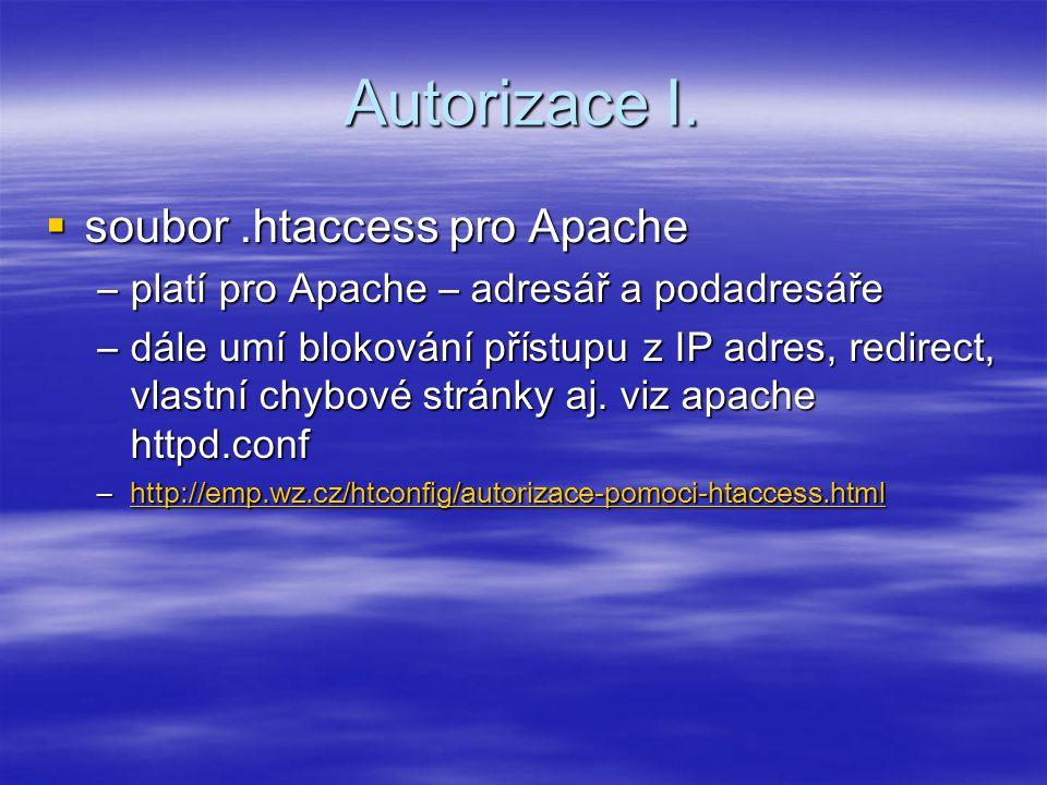 Autorizace I.