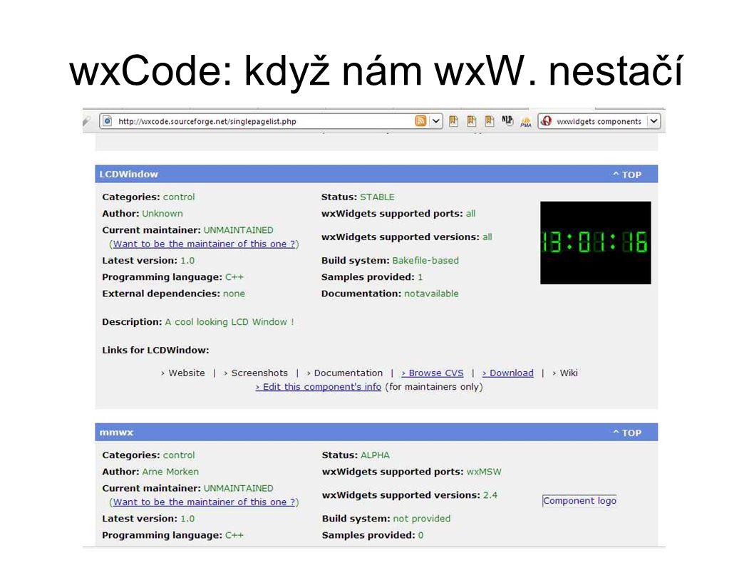 wxCode: když nám wxW. nestačí