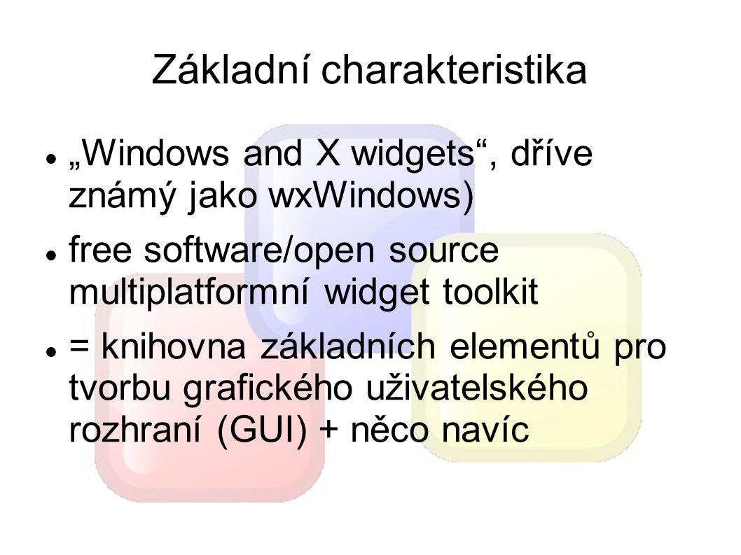 Stručná historie wxWidgets (tehdy ještě jako wxWindows) se vyvájejí již od roku 1992 projekt založil Julian Smart, během svého působení na University of Edinburgh Julian Smart se dodnes podílí na vývoji jádra 20.