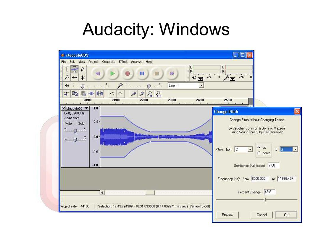 Audacity: Windows