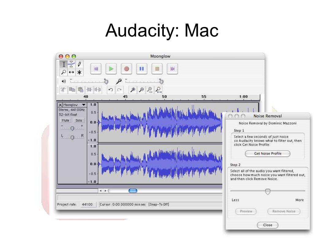 Audacity: Mac