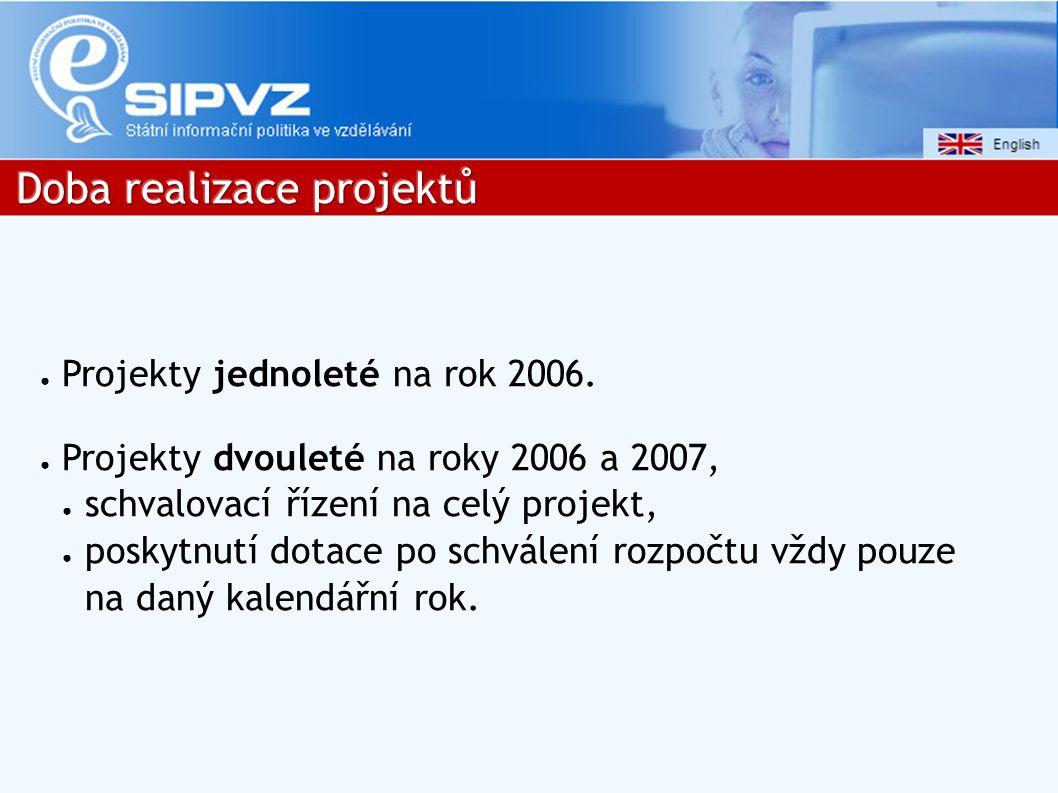 ● Projekty jednoleté na rok 2006.