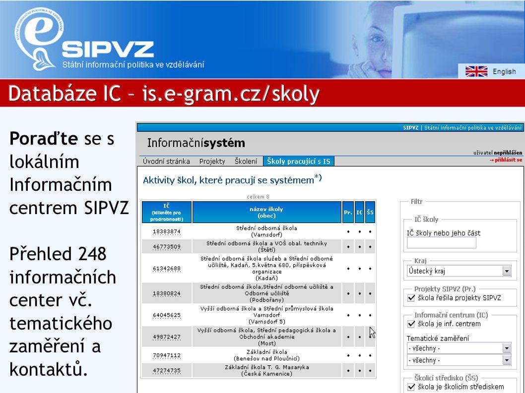 Poraďte se s lokálním Informačním centrem SIPVZ Přehled 248 informačních center vč.