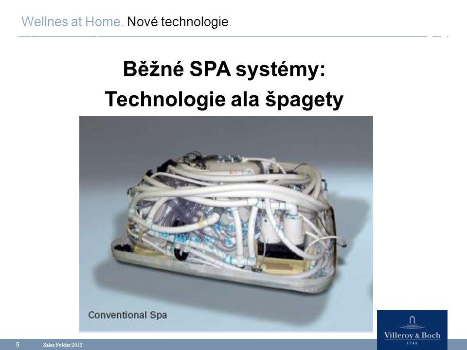 Sales Folder 2012 5 Běžné SPA systémy: Technologie ala špagety Wellnes at Home. Nové technologie